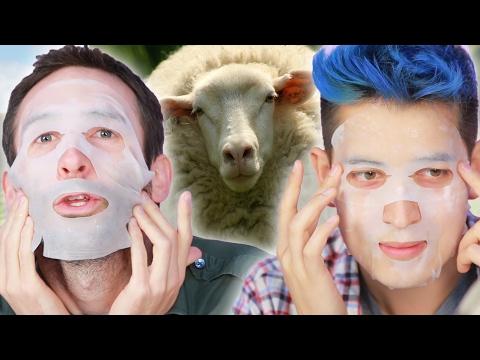Guys Put Animal Placenta On Their Faces