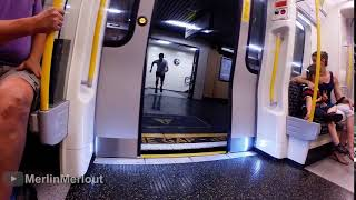 Guy attempts to race the tube