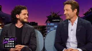 Nicknames with Kit Harrington and David Double D Duchovny