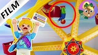 بلايموبيل فيلم| حادث في الكرنفال. جوليان كان هيقع من عربة الملاهى ! سلسلة للأطفال