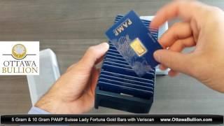 5 gram & 10 gram PAMP Suisse Fortuna Gold Bars. Sell Gold Ottawa