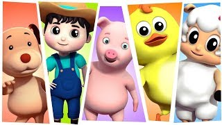 Five Little Farmees | Nursery Rhymes For Children | Songs For Kids by Farmees