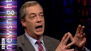 Nigel Farage on tax, the NHS and gay men kissing - BBC Newsnight