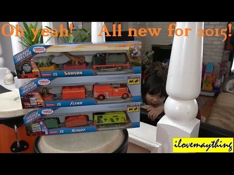 New Thomas & Friends Trackmaster Trains SAMSON FLYNN and SCRUFF Preview