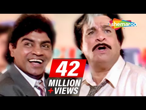 Most Entertaining scenes of Johnny Lever & Kader Khan from 90 s Hindi comedy Movie Dulhe Raja