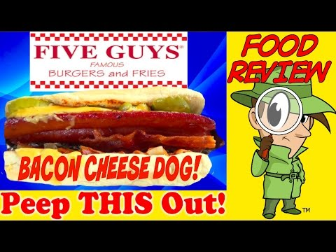 Five Guys® | Bacon Cheese Dog Review! Peep THIS Out!