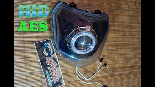 AES HID Projector installation into New Vixion / pemasangan Projector HID AES di New Vixion
