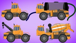 Transformer | Water Tank | Cement Mixer | Tow Truck | Video For Kids