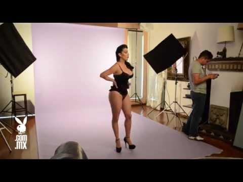 Sugey Abrego en Playboy México Backstage