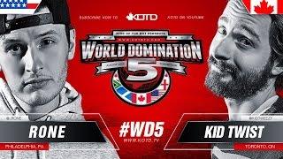 KOTD - Rap Battle - Rone vs Kid Twist | #WD5