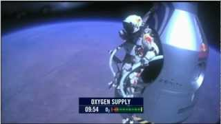 Felix Baumgartner Freefall from 128,000 feet (FULL 720p) Caduta libera da 39km