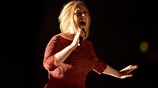 Adele Audio Issues During  'All I Ask' 2016 Grammys Performance