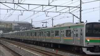 【JR】205系600番台Y12+Y11 宝積寺発車