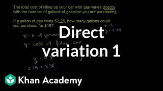 Direct variation 1 | Rational expressions | Algebra II | Khan Academy