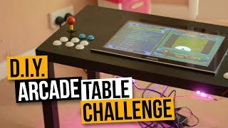 D.I.Y. ARCADE TABLE CHALLENGE PART #1 -  MAME COFFEE TABLE ARCADE MACHINE BUILD