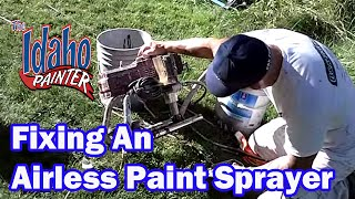 Replacing a Titan 440 Pump Filter.  Repairing a Titan airless sprayer.
