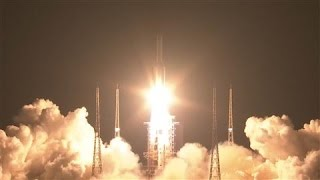 China Launches Long March-5 Carrier Rocket