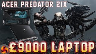 Acer Predator 21x review - the £9,000 gaming laptop! (21.5 inch 120HZ IPS curved)