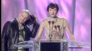 Bjork wins International Female presented by Alexander McQueen & Honor Fraser | BRIT Awards 1998