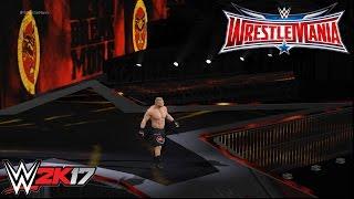 WWE 2K17 - Brock Lesnar vs. Dean Ambrose: Wrestlemania 32 | PS4 Gameplay