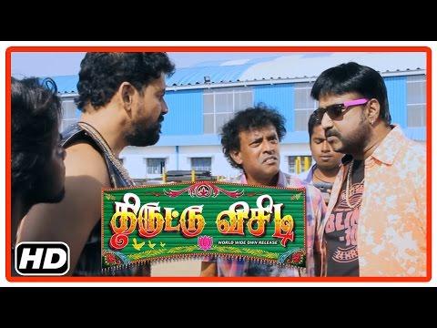 Thiruttu VCD Tamil Movie   Scenes   Prabha finds cocaine in the vehicle   Devadarshini   Sukumar