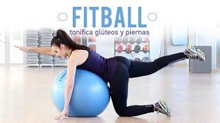 Ejercicios para tonificar glúteos y piernas con fitball | Principiantes