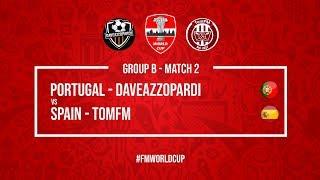 Portugal vs Spain | DaveAzzopardi vs TomFM | Football Manager 2018 | #FMWorldCup
