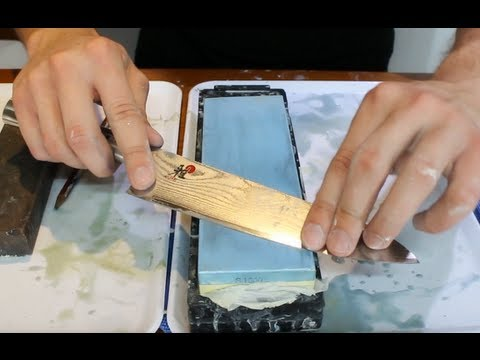How to Sharpen a Knife on a Wet Stone - How to Get an Extremely Sharp Knife
