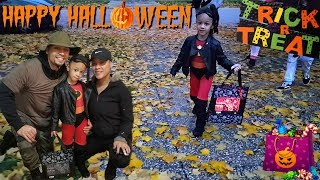 Kids Go Halloween Trick or Treating for Surprise Candy! | Imani