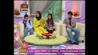 Dr. Aafia's children in ARY morning show on Mother's Day.mp4