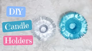 Art and Craft: DIY Candle Holders! Recycling Plastic Bottles! Best Out of Waste!