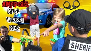 POLICE HUNT DOWN AMERICA'S MOST WANTED KIDS - COP KIDS PATROL