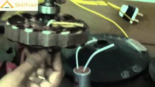 Assembly of a Motor of a Ceiling Fan (Hindi) (हिन्दी)