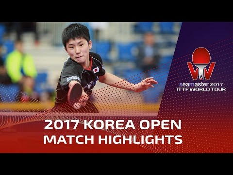2017 Korea Open Highlights Tomokazu Harimoto vs Lim Jonghoon Pre