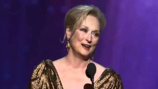 Meryl Streep Wins Best Actress: 2012 Oscars
