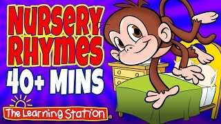 Five Little Monkeys Jumping on the Bed - Popular Nursery Rhymes Playlist for Children