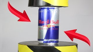 Experiment Hydraulic Press 100 ton VS RedBull Enerjy Drink | The Crusher