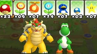 What happens when Bowser and Yoshi uses Mario