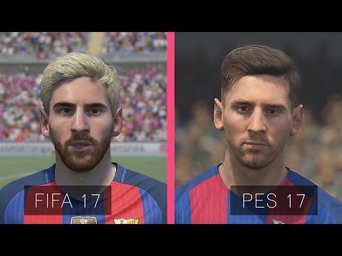 FIFA 17 Vs PES 17: Barcelona Faces Comparison