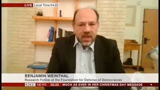 Benjamin Weinthal on Israeli airstrikes in Syria with BBC TV