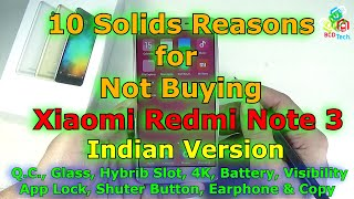 [Hindi-Audio]-10 Solid Reasons for Not Buying Xiaomi Redmi Note 3