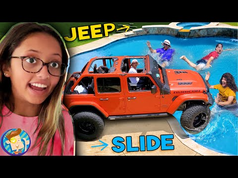 JEEP vs. POOL FV Family Slide Towing Vlog w a side of ICE