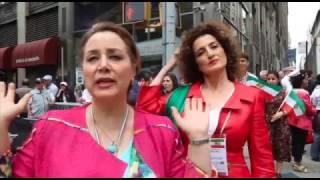 موسیقی و رقص ایرانی در خیابان های نیویورک؛ رژه ایرانی