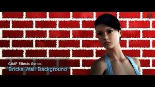 ईंट की दीवार संरूप द्वारा Bricks wall form Pattern on GIMP