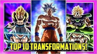 Top 10 Best Transformations In Dokkan Battle | DBZ Dokkan Battle List