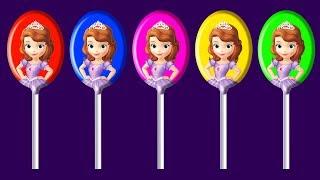 Sofia Lollipops Finger Family Song Nursery Rhymes | Colors Learn