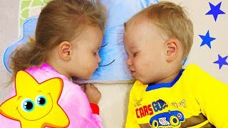 Funny Kids Night Routine Bedtime! Cute Family Fun Video for kids