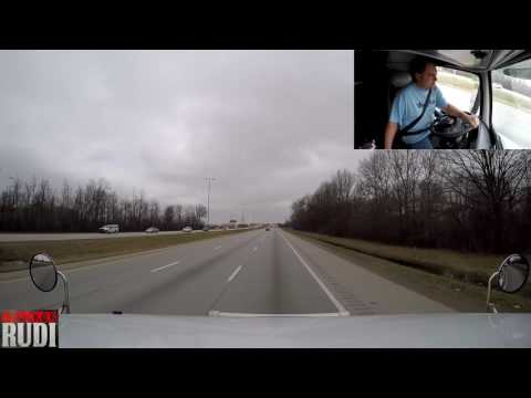 TRUCKER RUDI I can't cross the border 03/28/17 Vlog#1022