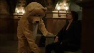 Person of interest Root in a bear costume