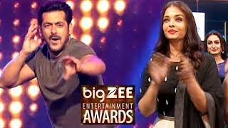 Aishwarya Rai Cheers Salman Khan During Performance - Big Zee Entertainment Awards 2017